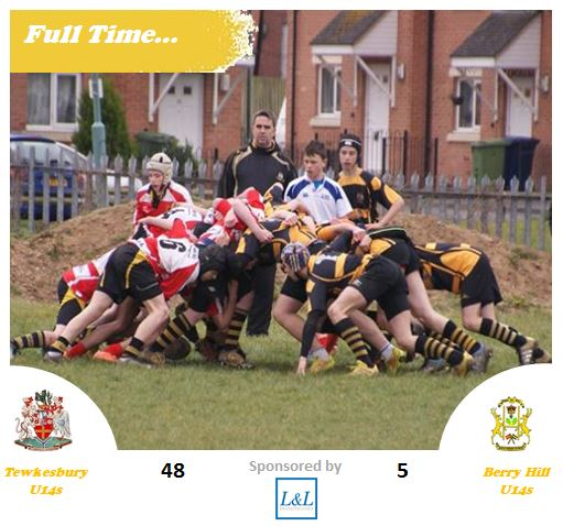 Full Time – U14s v Berry Hill – 20th March 2016