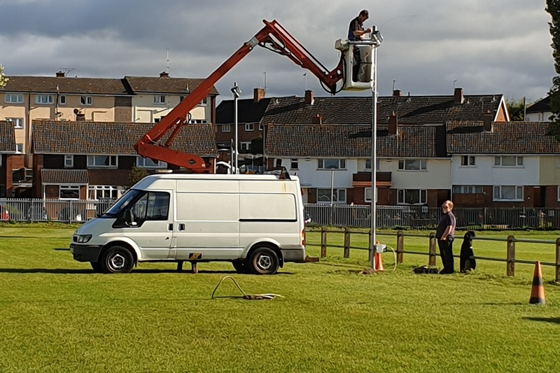 Floodlights all ready for the winter!